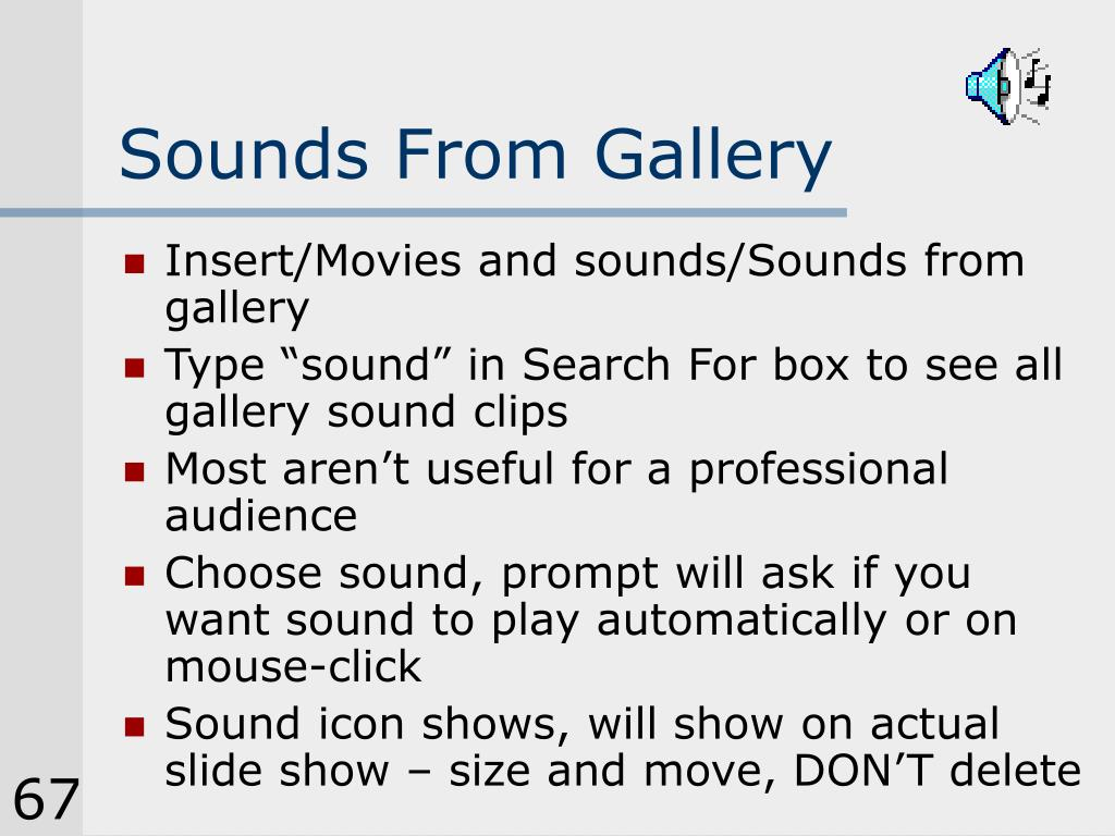 Sounds From Gallery