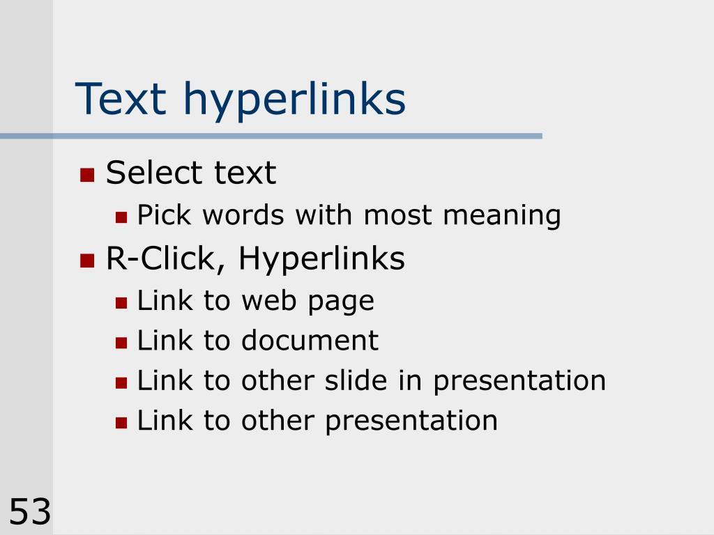 Text hyperlinks