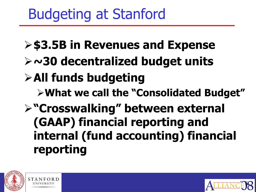 Budgeting at Stanford