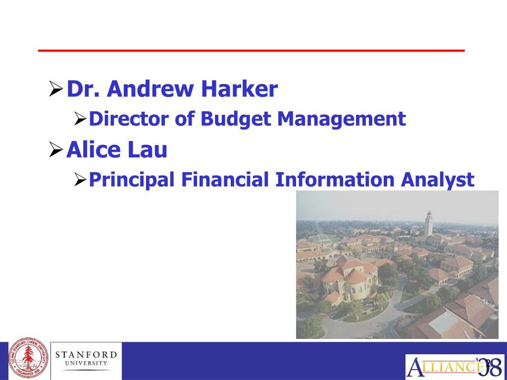Dr. Andrew Harker