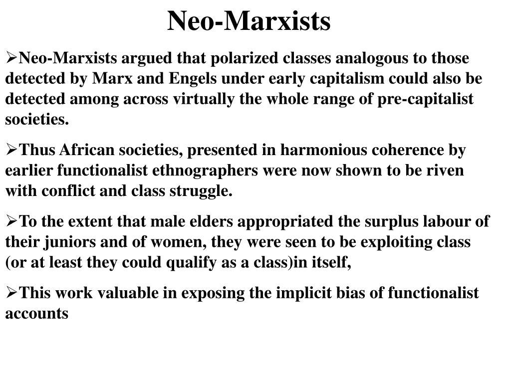 Neo-Marxists