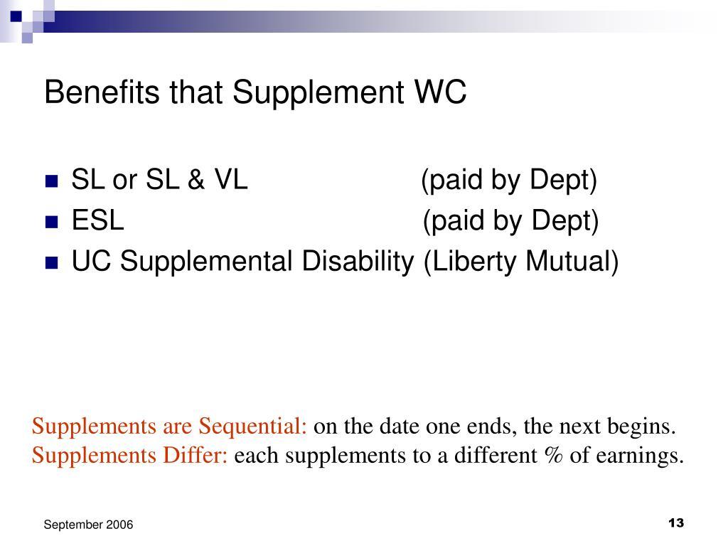 Benefits that Supplement WC