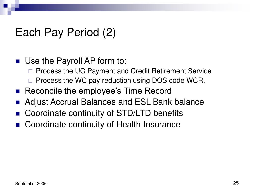 Each Pay Period (2)