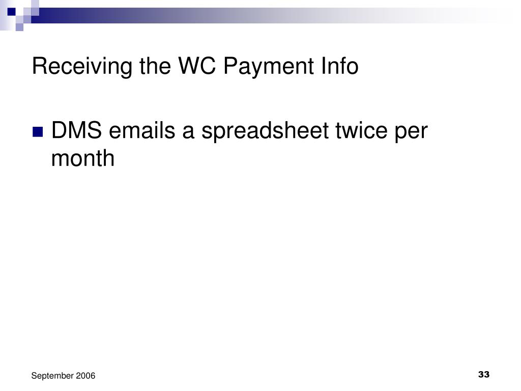 Receiving the WC Payment Info