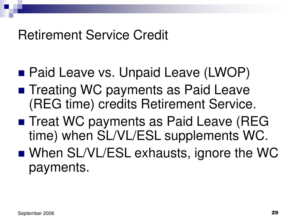 Retirement Service Credit