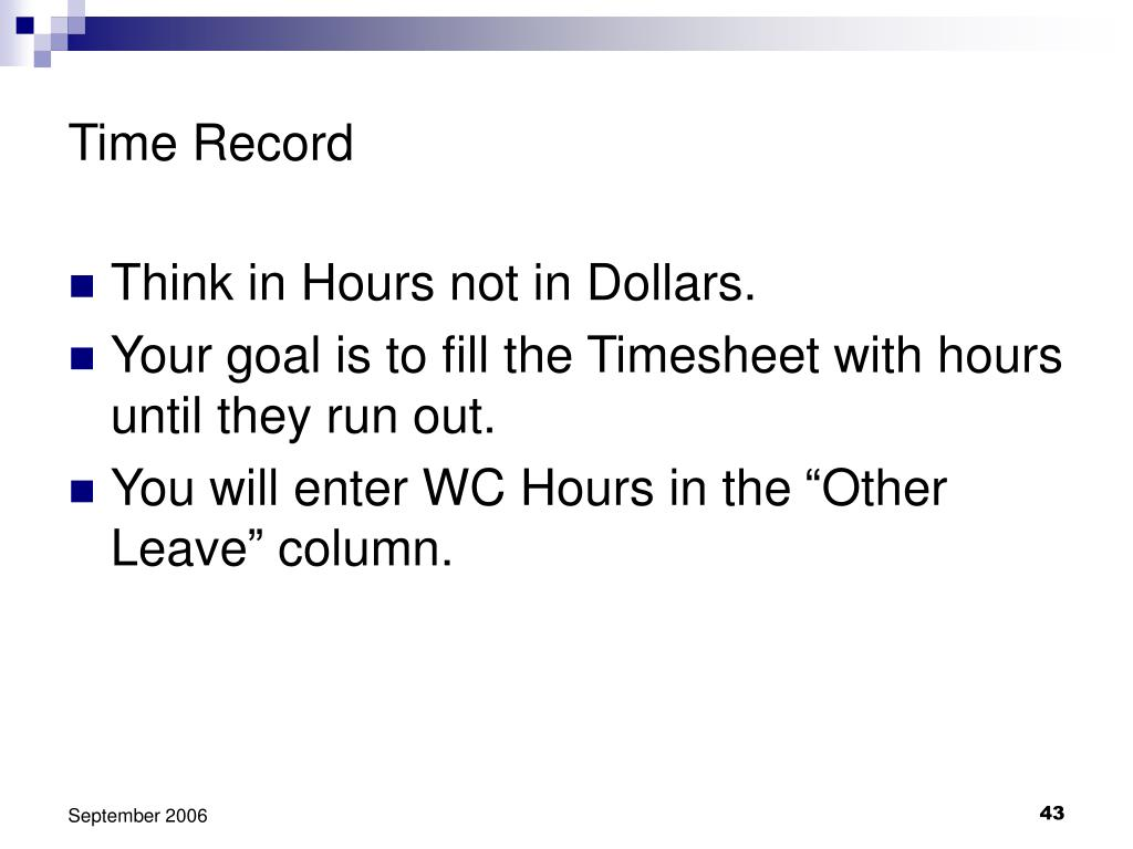 Time Record