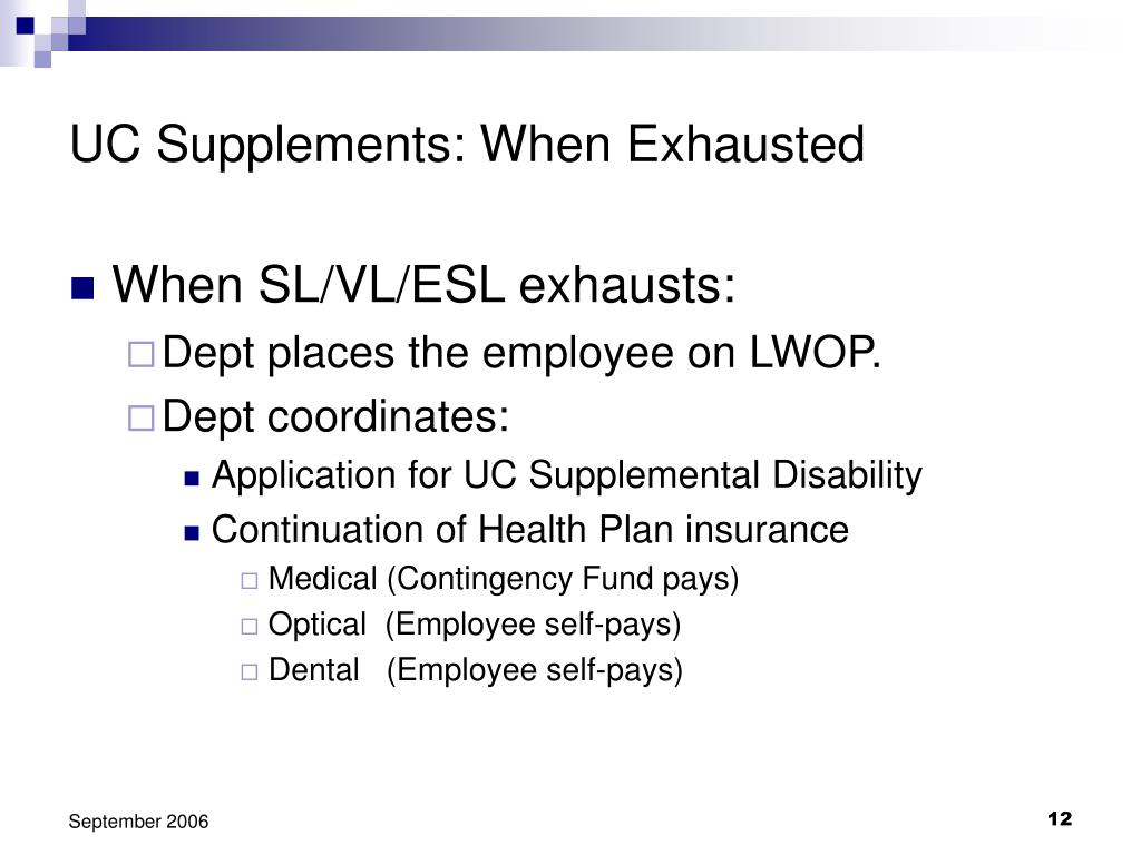 UC Supplements: When Exhausted