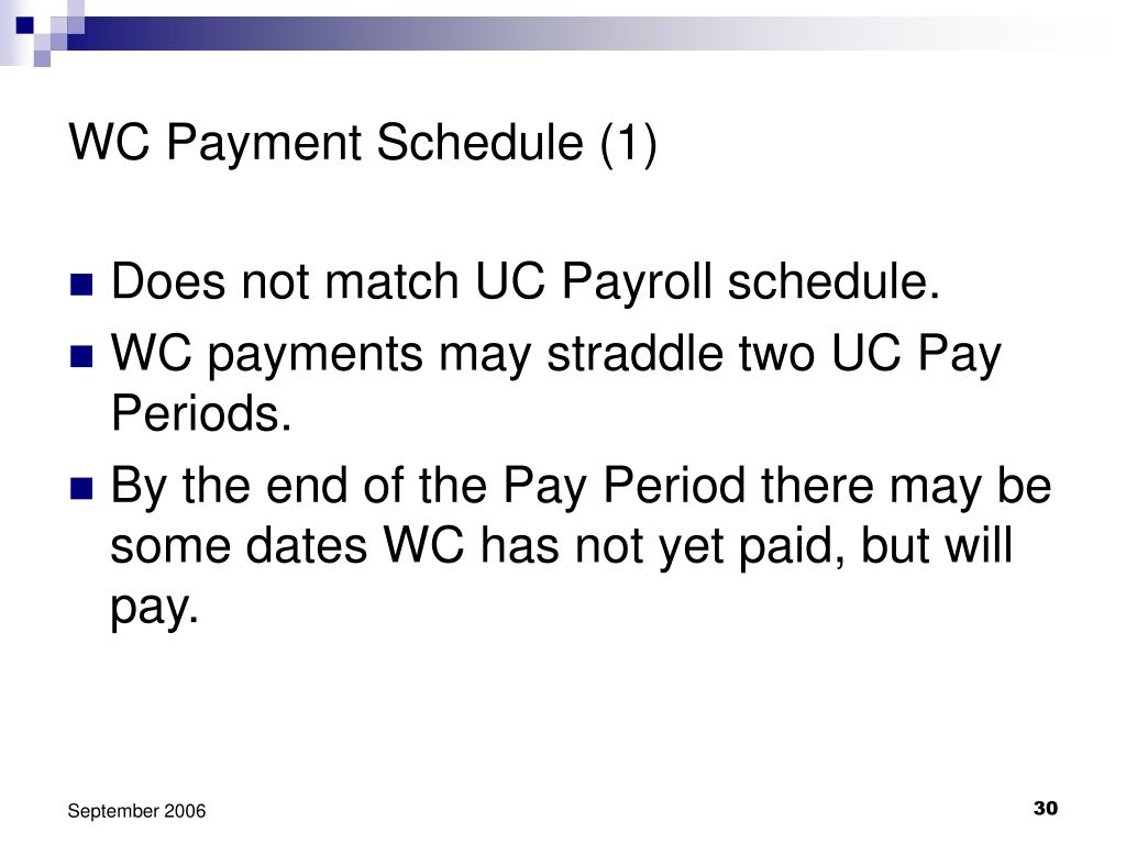 WC Payment Schedule (1)