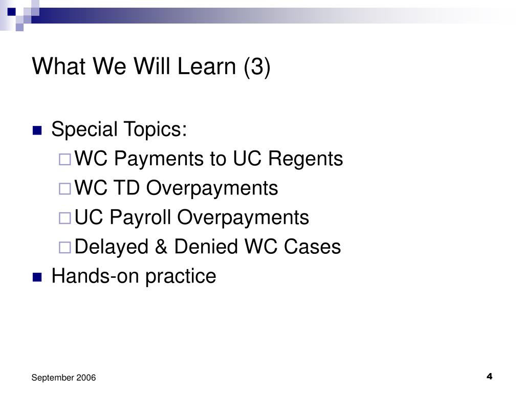 What We Will Learn (3)