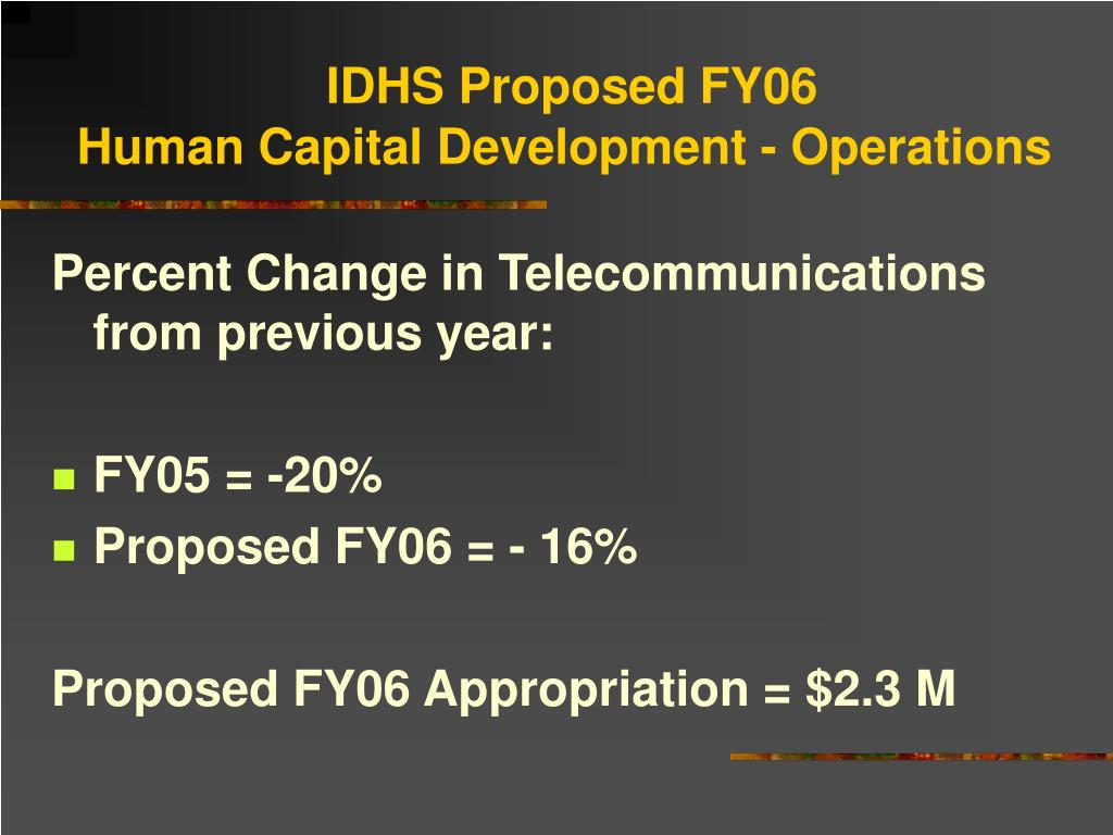 IDHS Proposed FY06