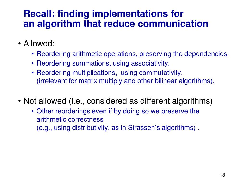 Recall: finding implementations for