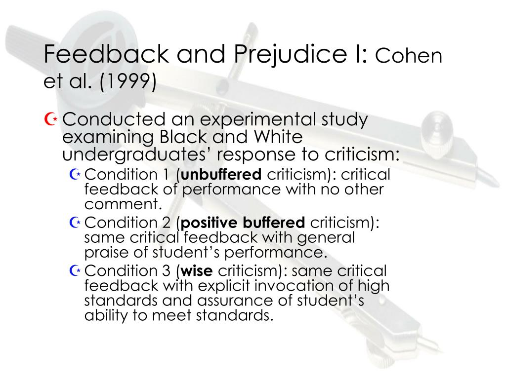 Feedback and Prejudice I: