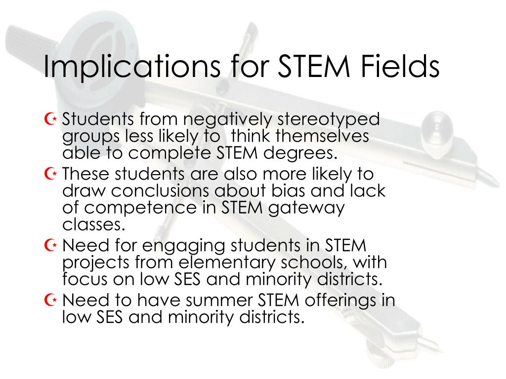 Implications for STEM Fields