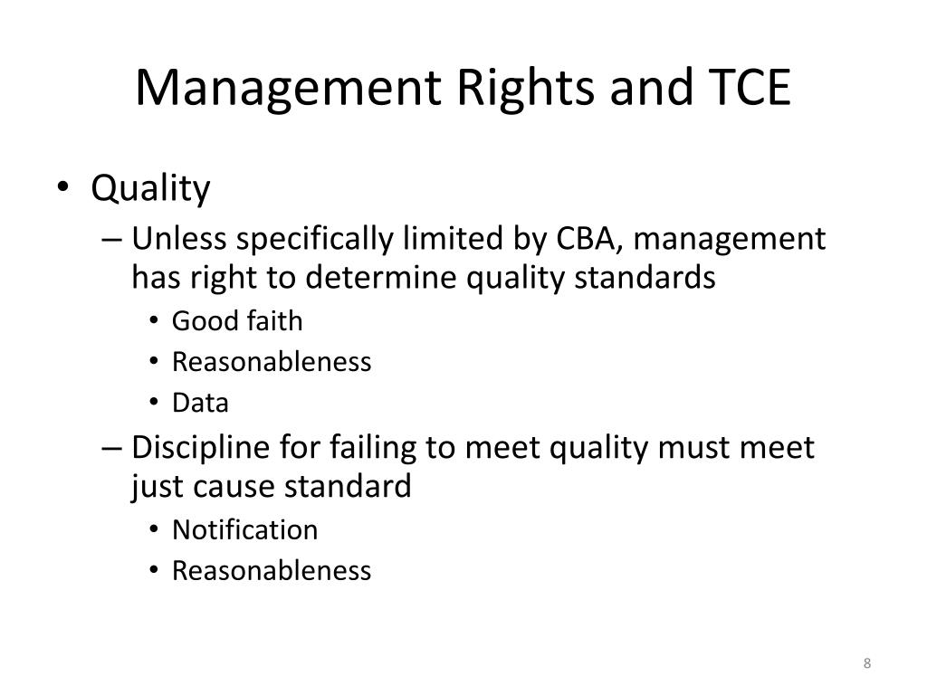 Management Rights and TCE