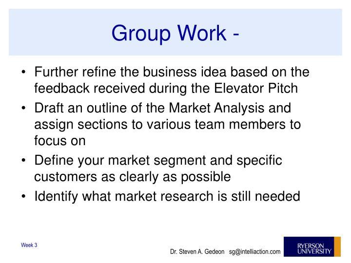 Group Work -