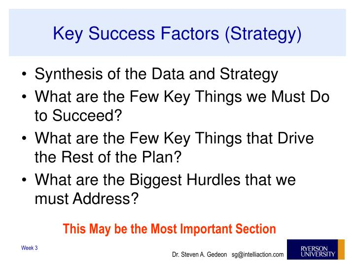 Key Success Factors (Strategy)