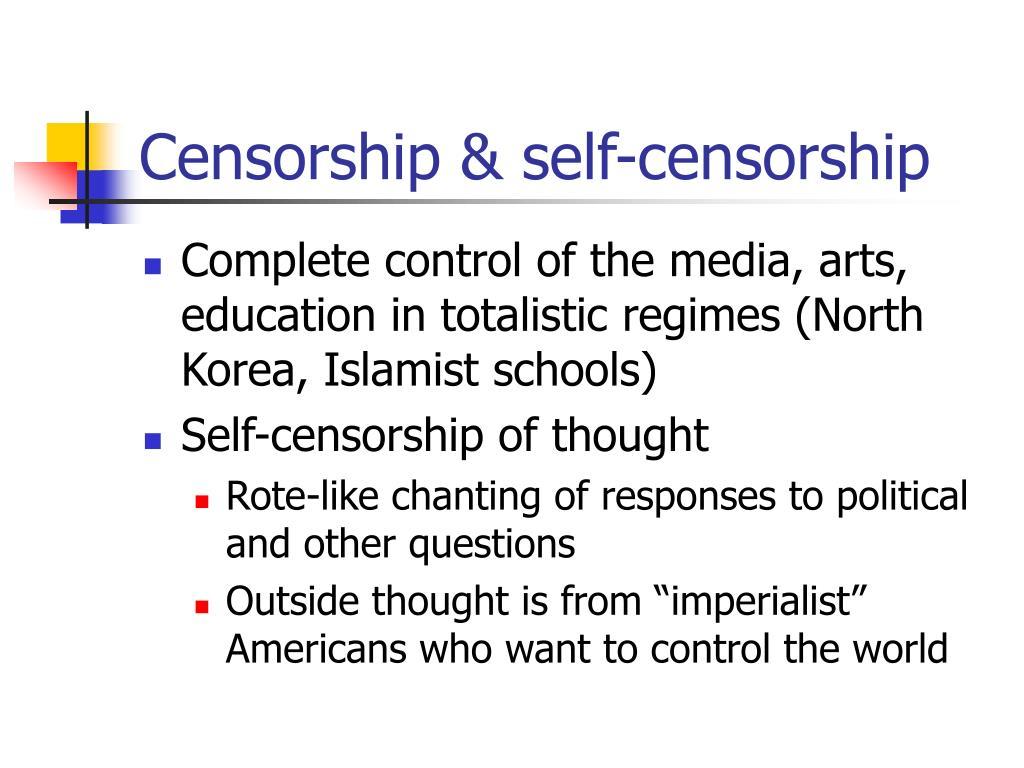 Censorship & self-censorship