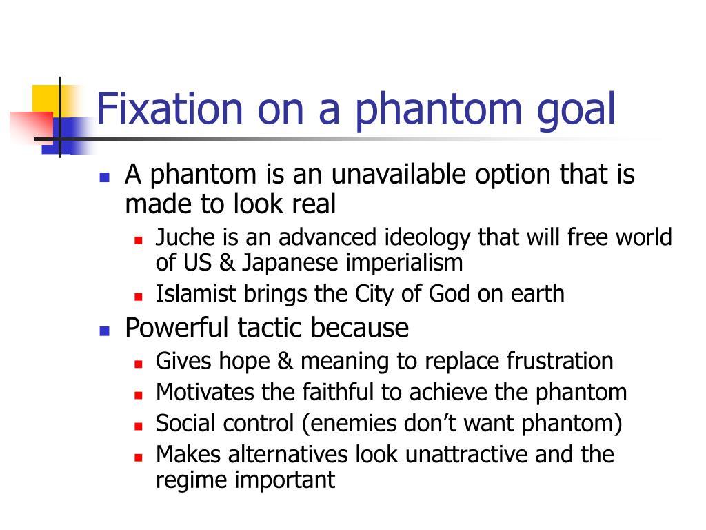 Fixation on a phantom goal