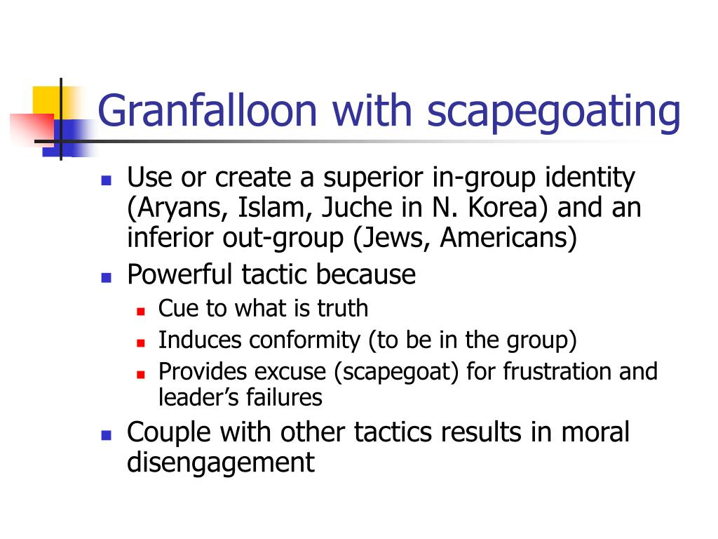 Granfalloon with scapegoating