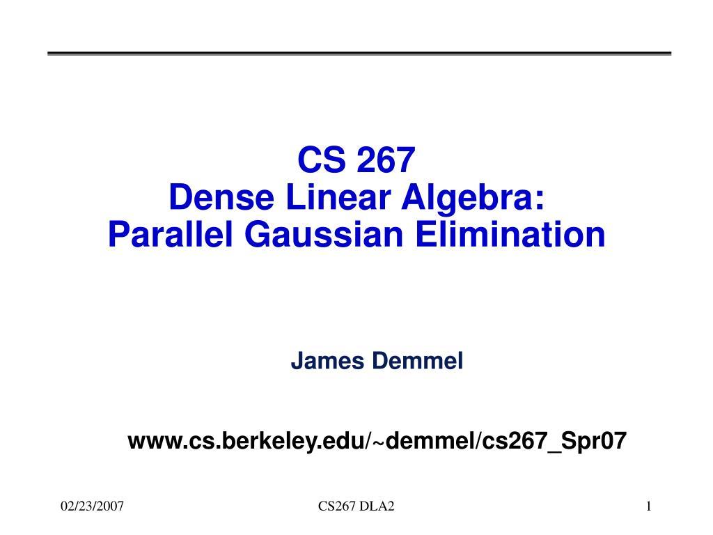 CS 267