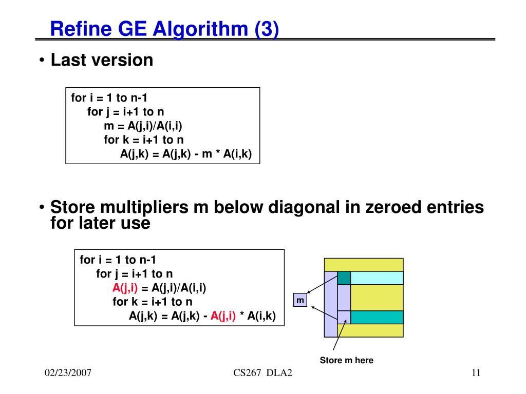 Refine GE Algorithm (3)