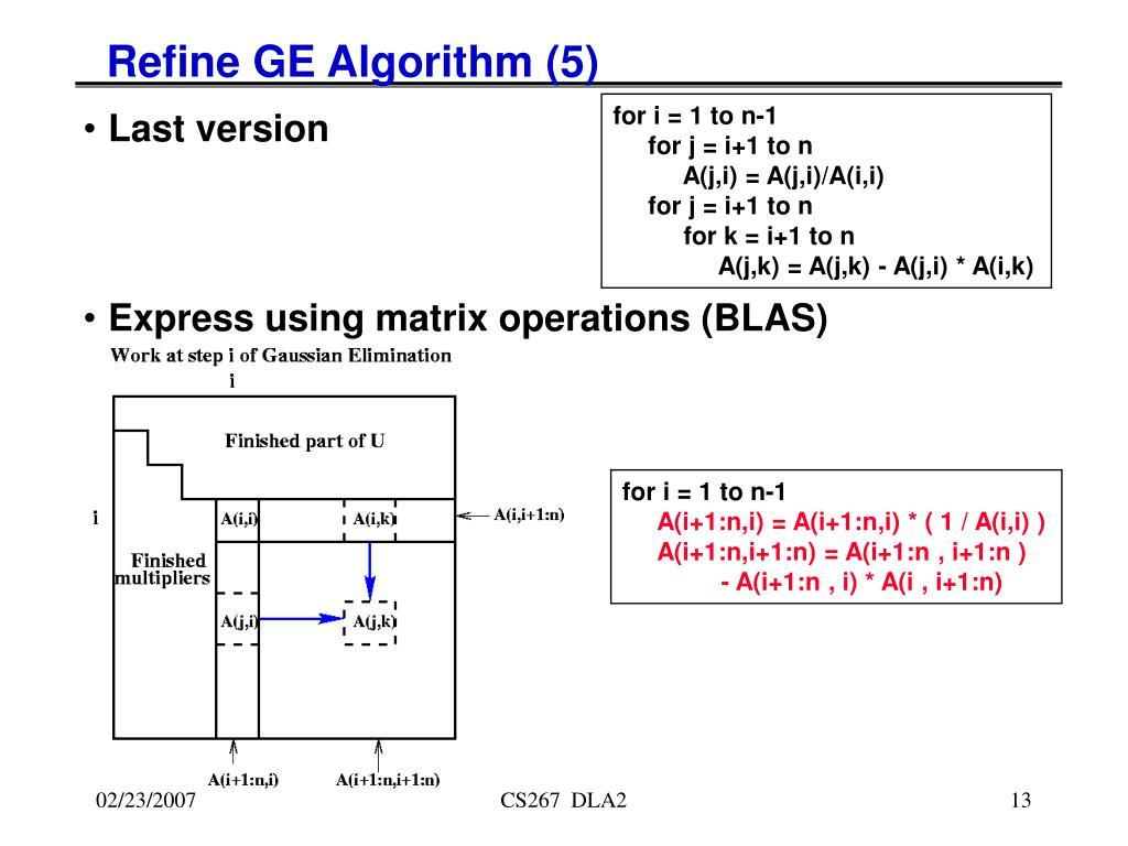 Refine GE Algorithm (5)