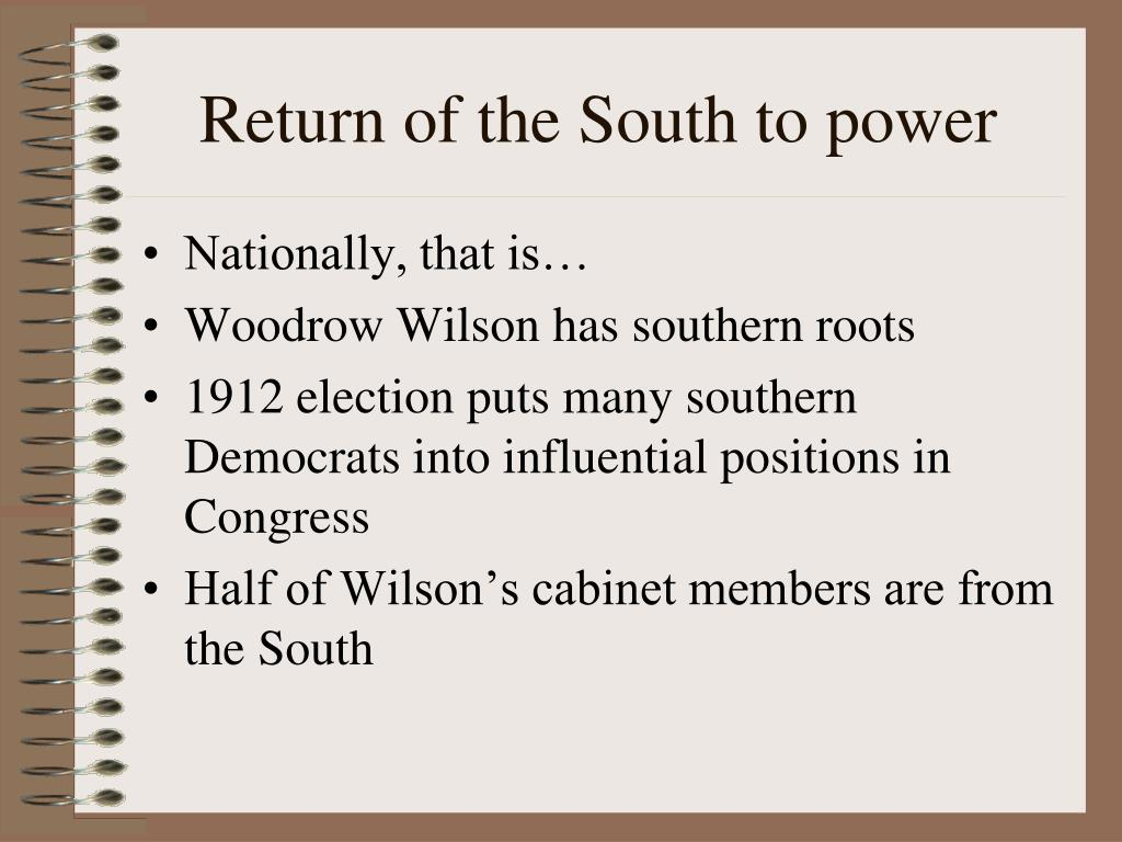 Return of the South to power