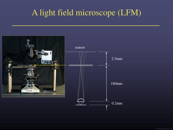 Ppt Light Field Microscopy Powerpoint Presentation Id