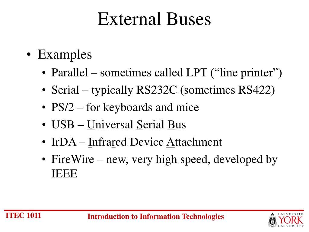 External Buses