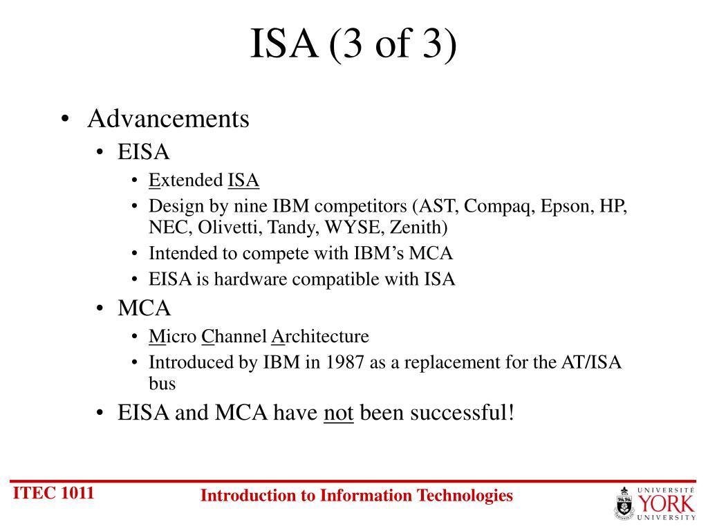 ISA (3 of 3)