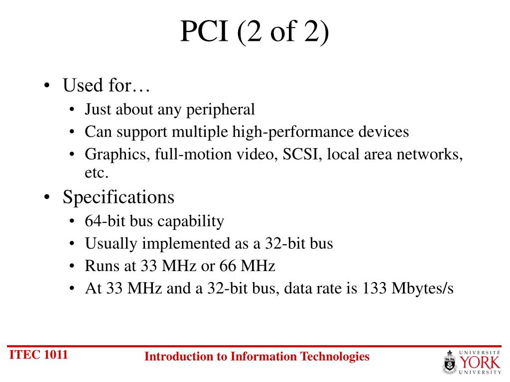 PCI (2 of 2)