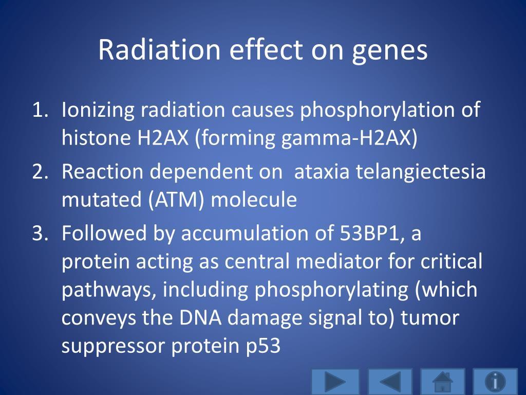 Radiation effect on genes
