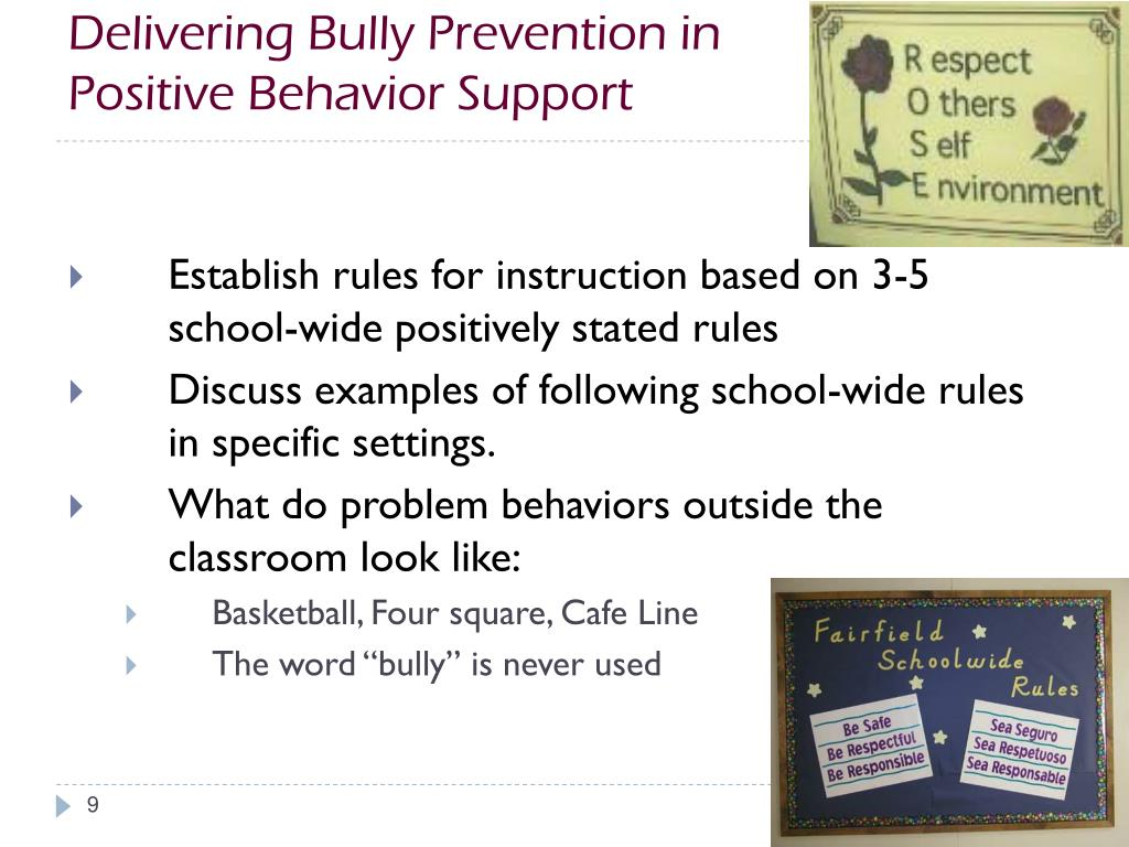 Delivering Bully Prevention in