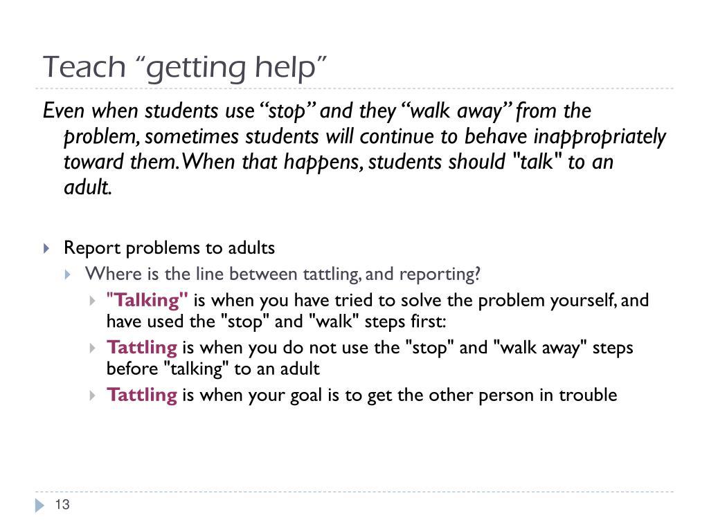 """Teach """"getting help"""""""