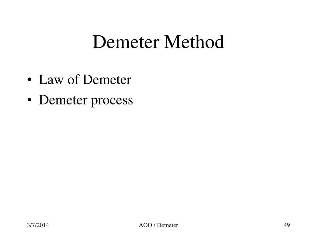 Demeter Method