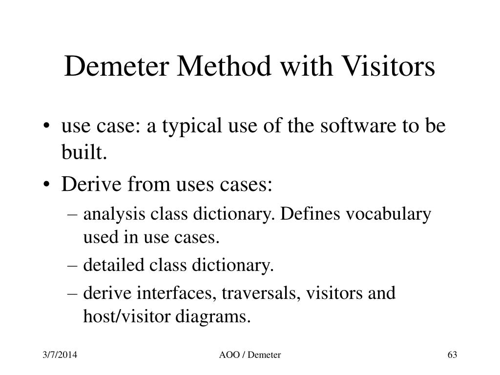 Demeter Method with Visitors