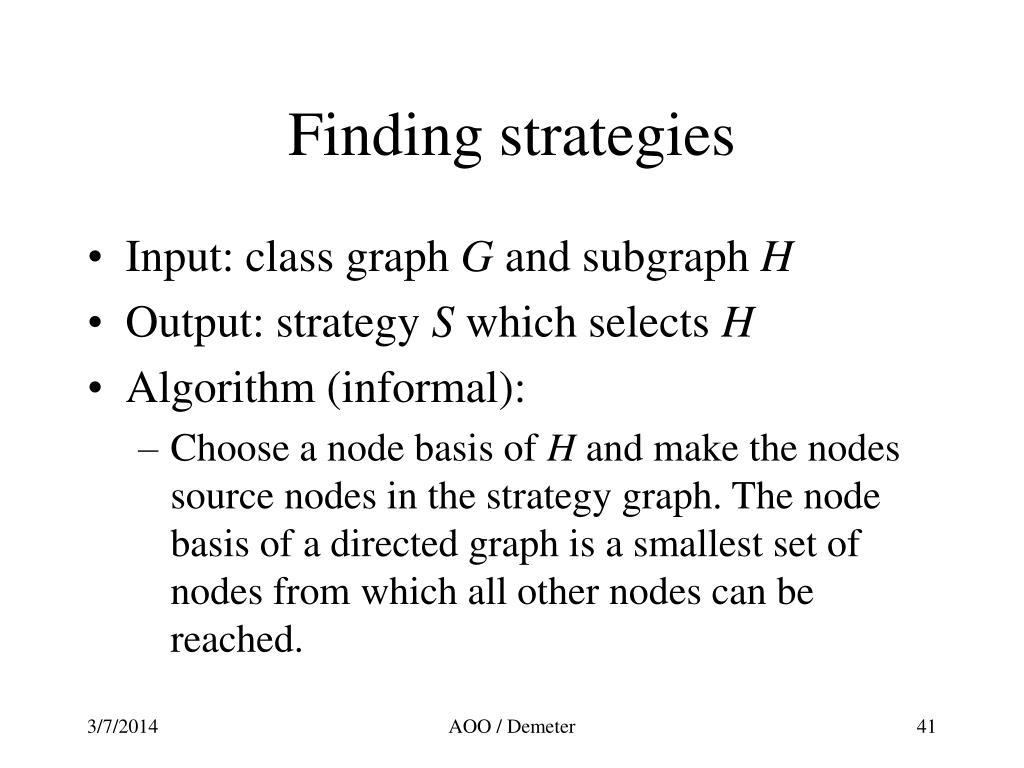 Finding strategies