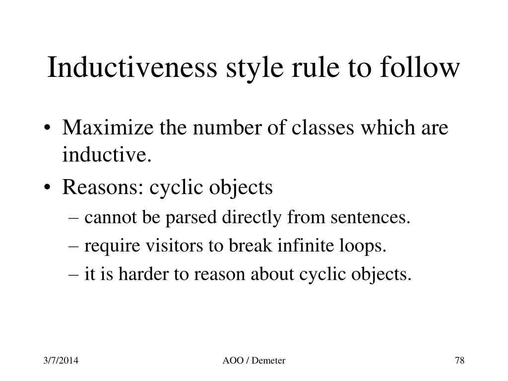 Inductiveness style rule to follow