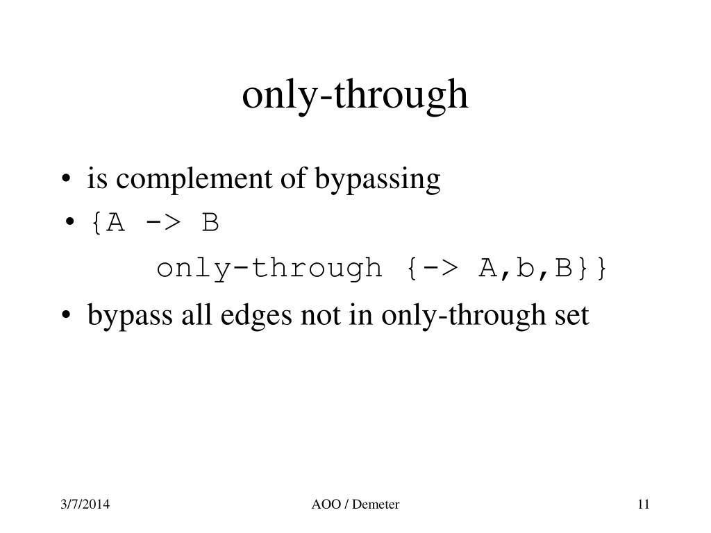 only-through