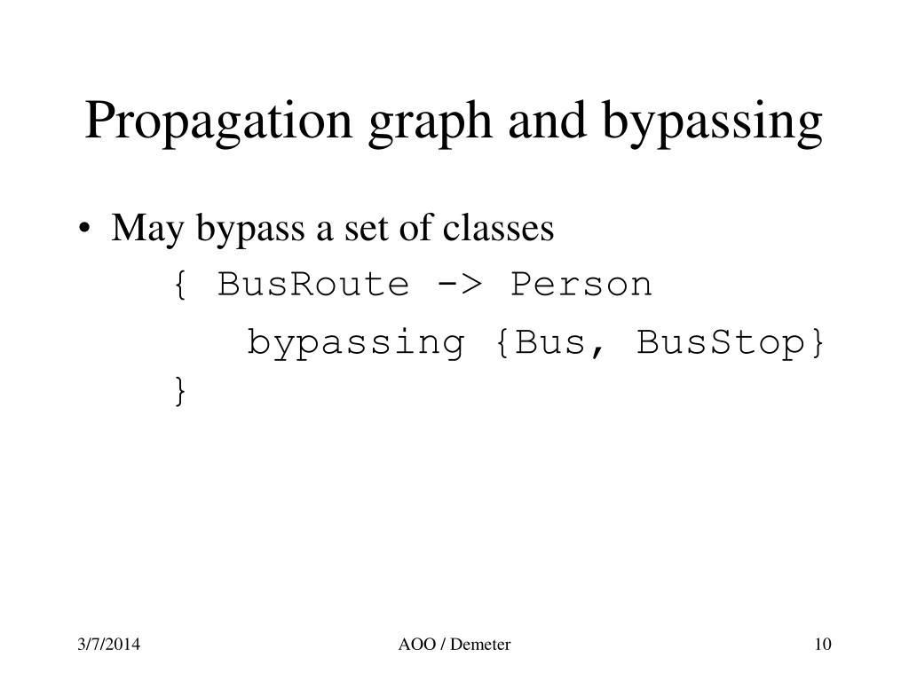 Propagation graph and bypassing