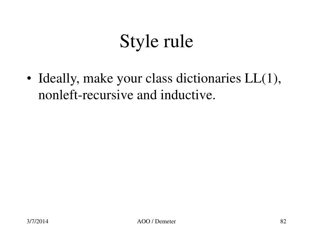 Style rule