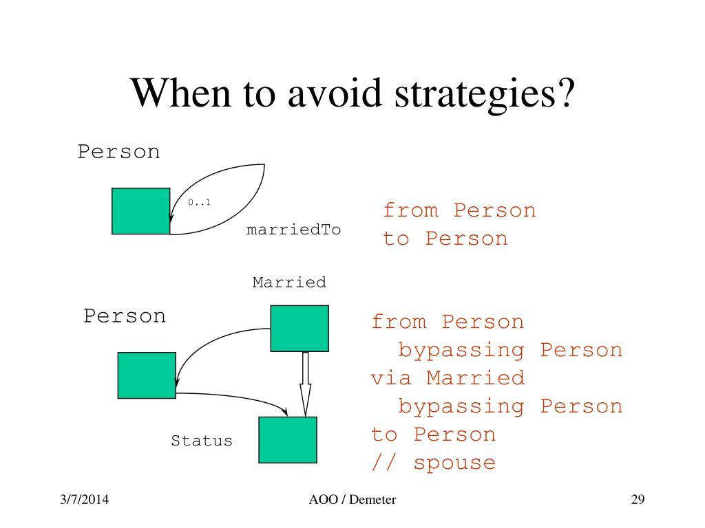 When to avoid strategies?