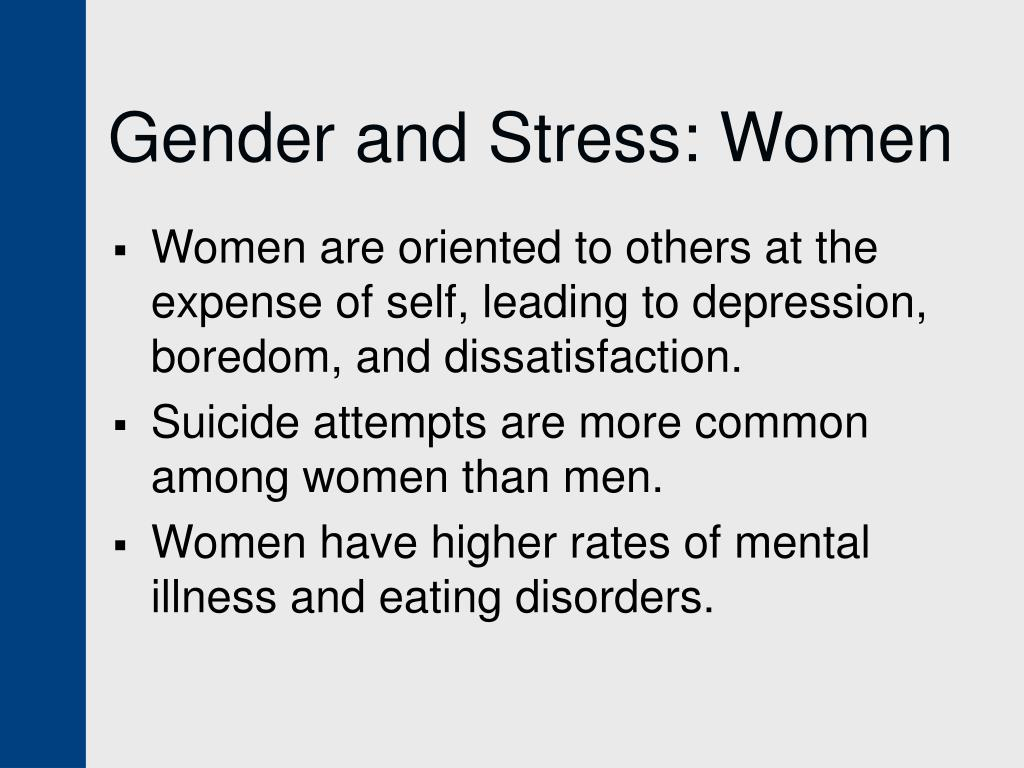 Gender and Stress: Women