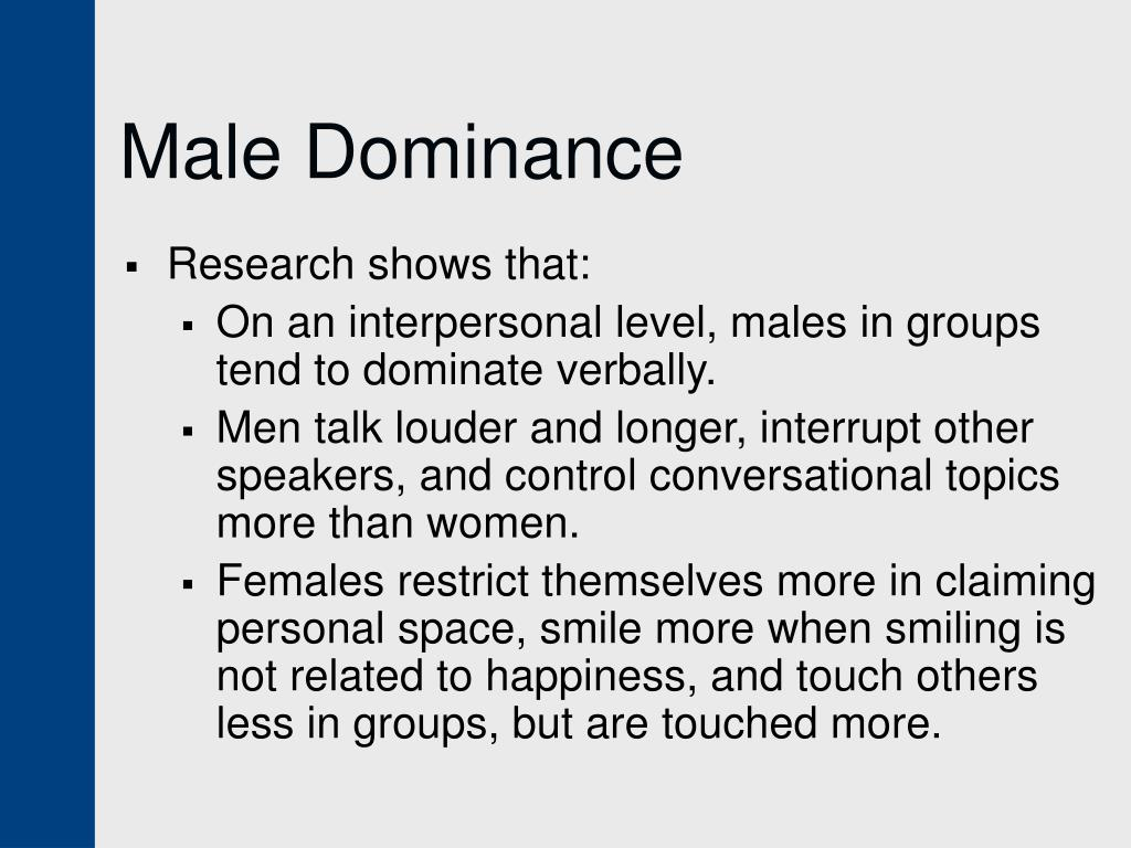 Male Dominance