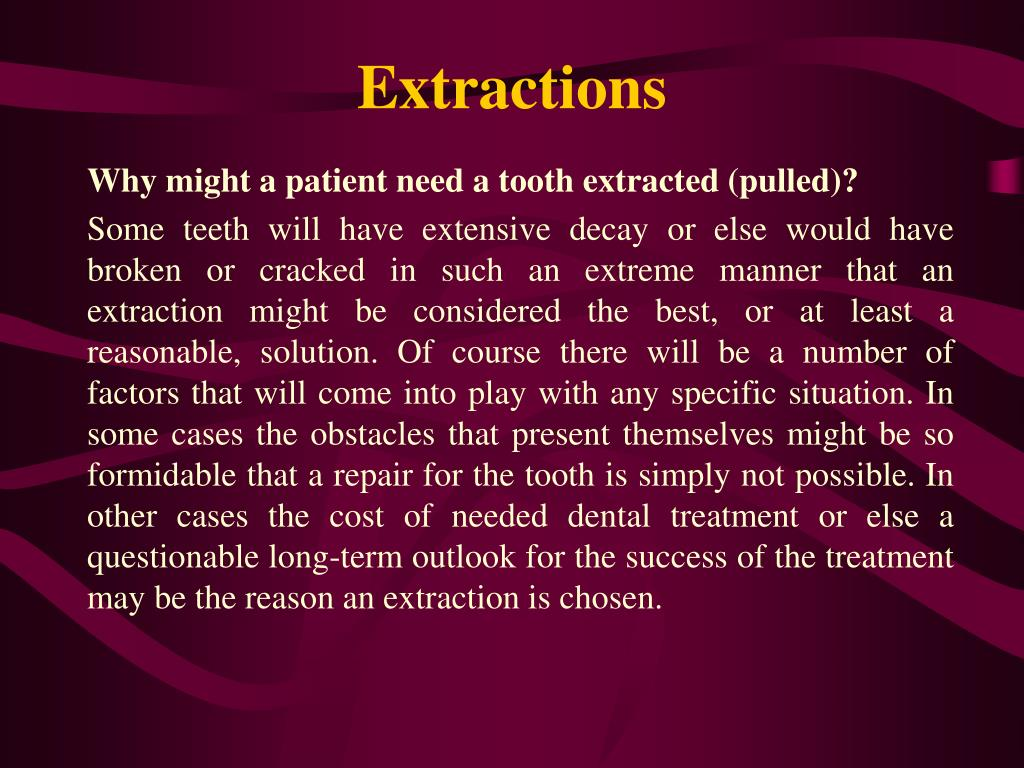 Extractions