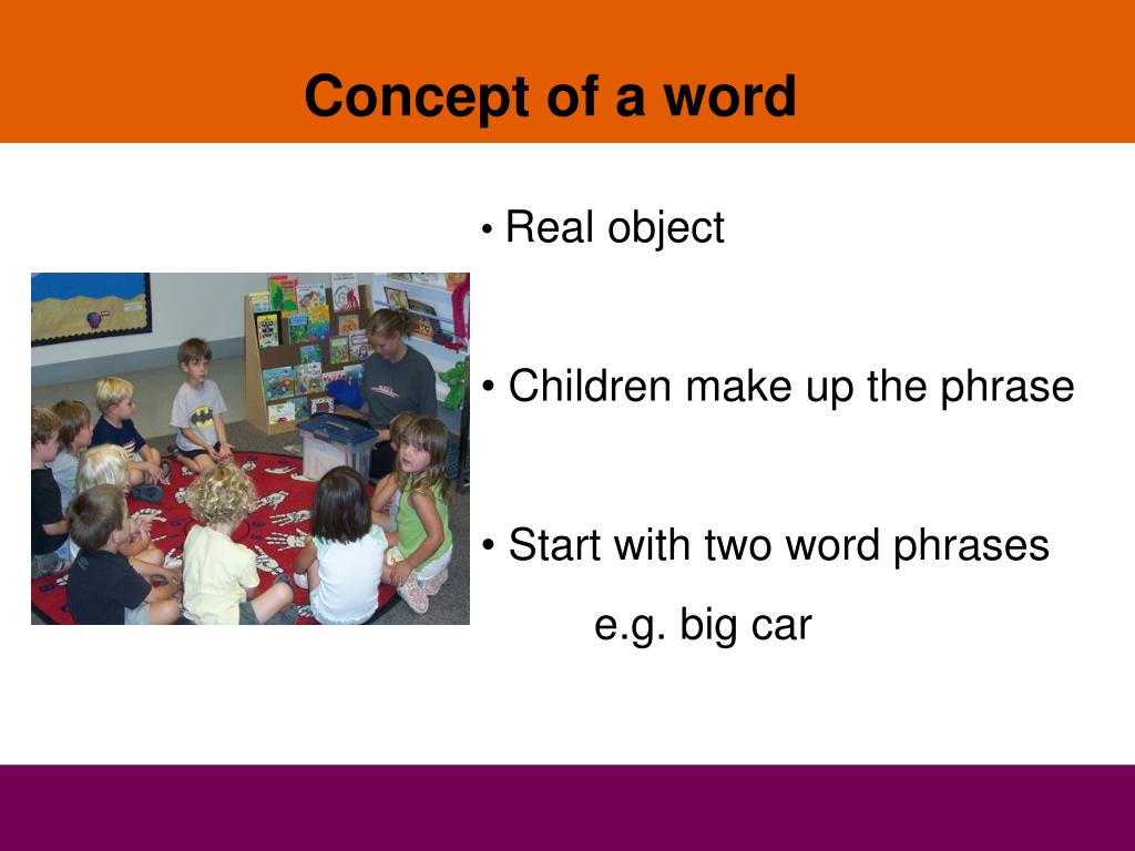 Concept of a word