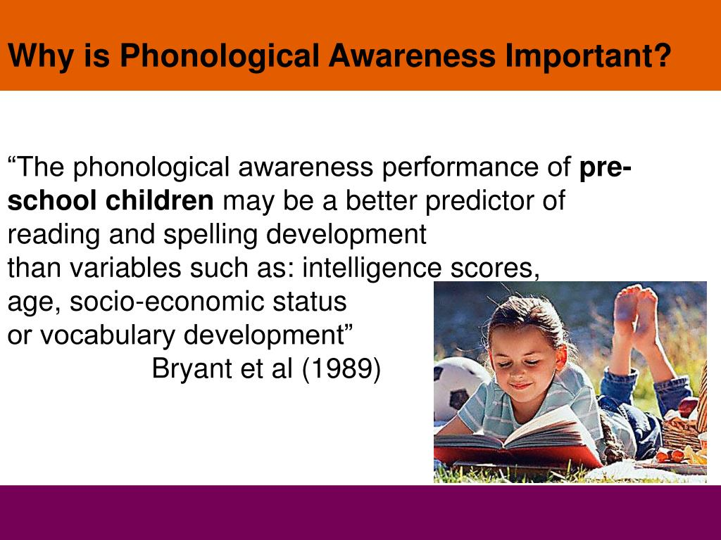 Why is Phonological Awareness Important?