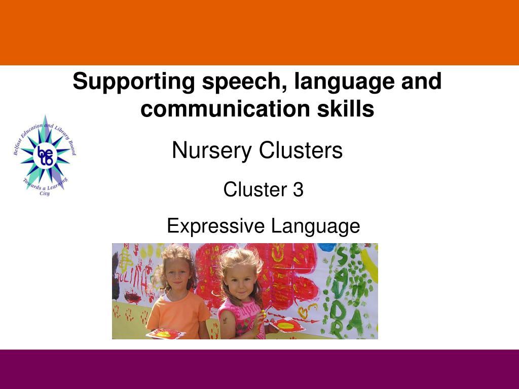 Supporting speech, language and communication skills