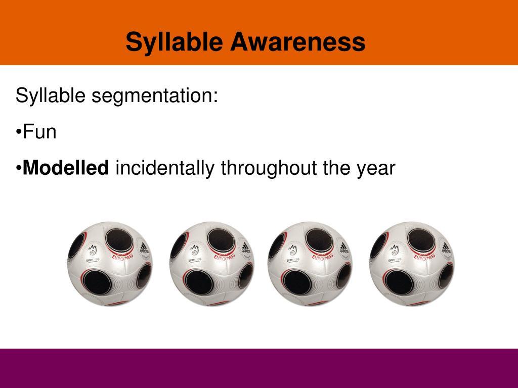Syllable Awareness