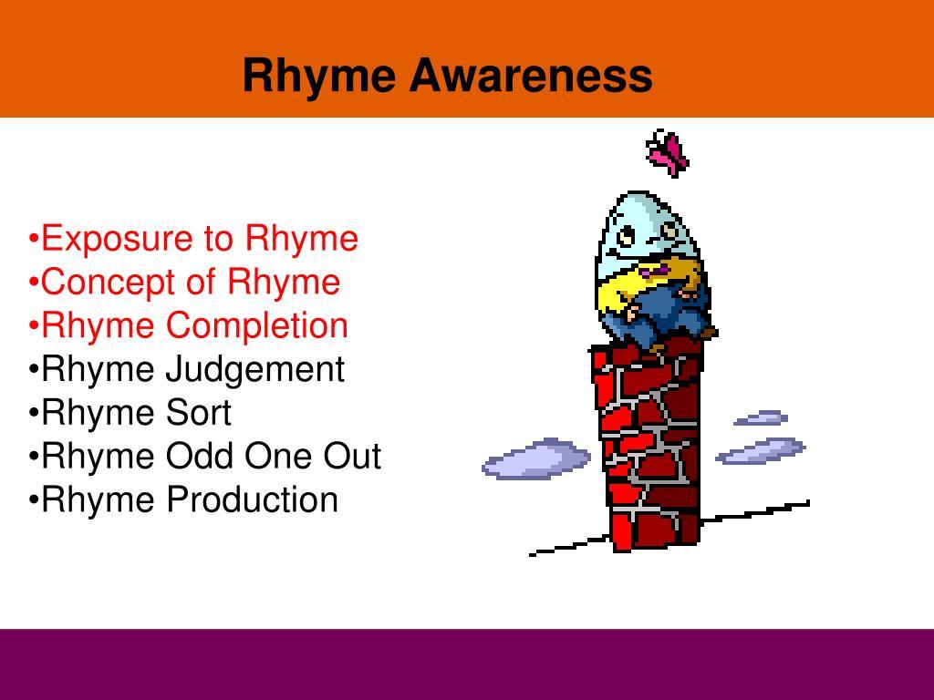 Rhyme Awareness